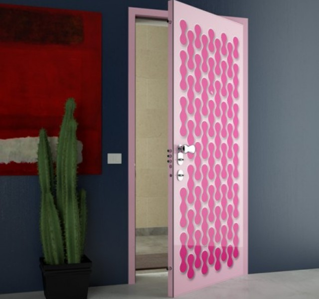 Hot-Pink-Door-designs-by-Karim-Rashid