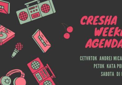 Cresha Bar неделен распоред 19-21.07.18